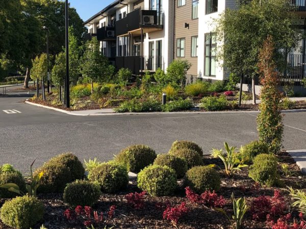 Retirement village entry gardens