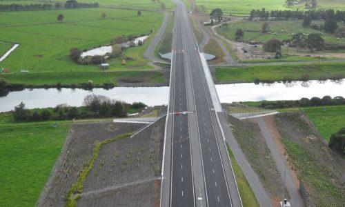 TEL aerial view roadside planting