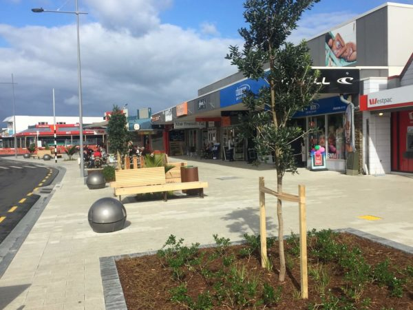 Whitianga towncentre streetscape planting